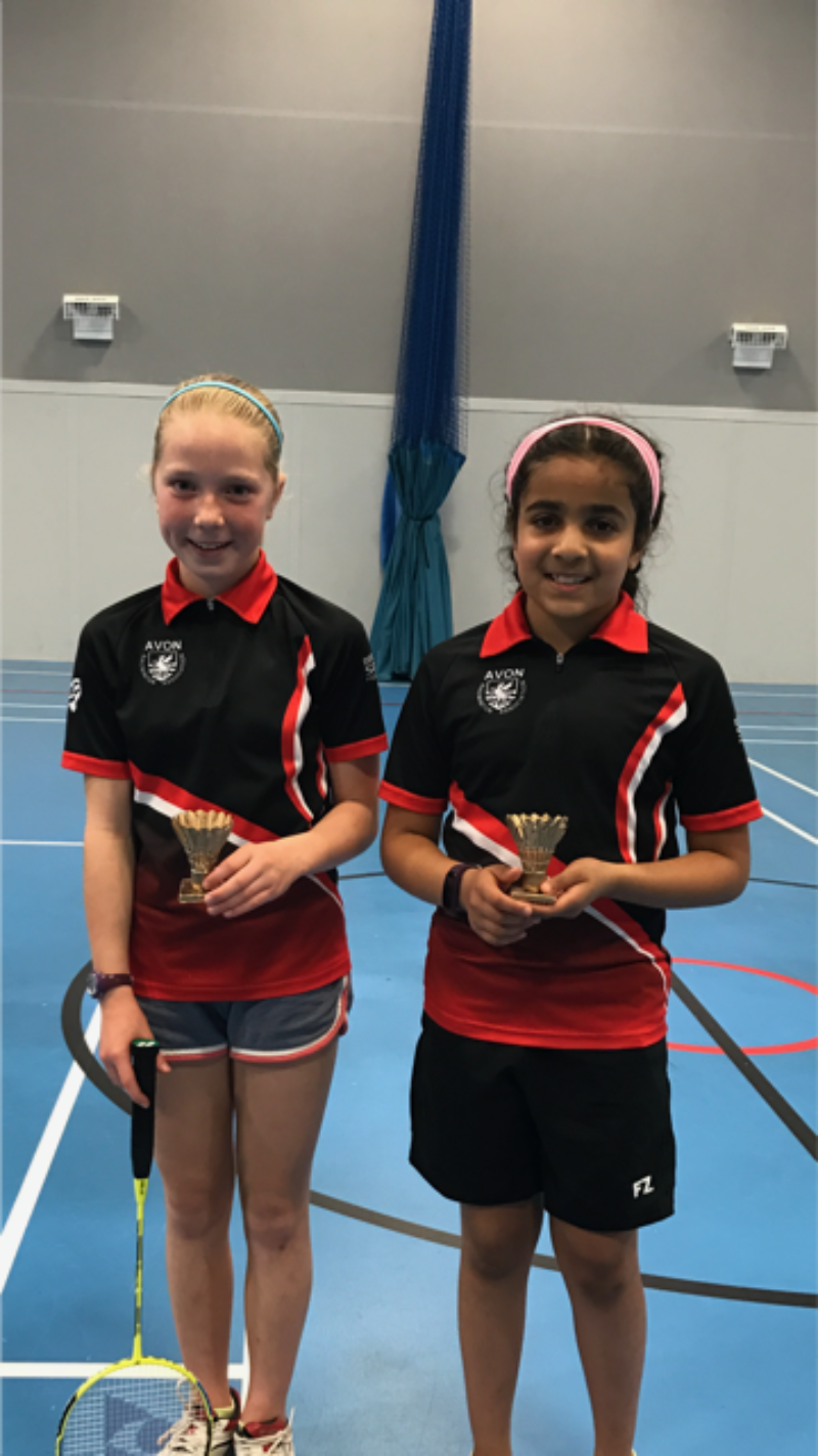 Avon Badminton competition winners