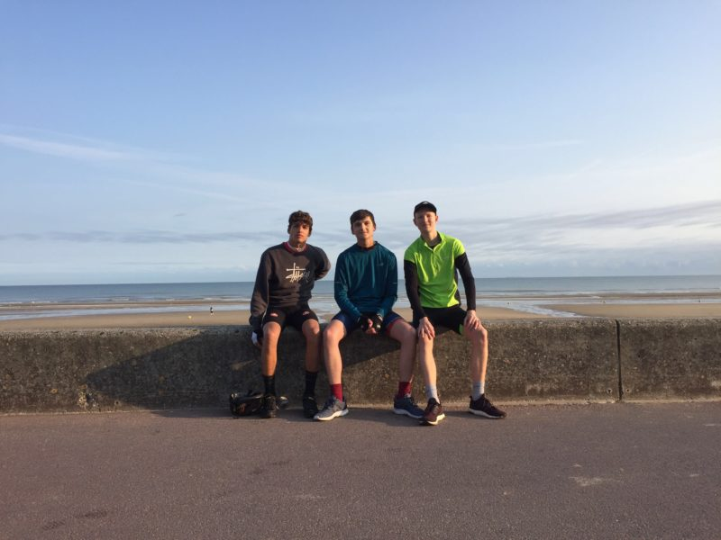 Sam, Louis and Seb in Normandy